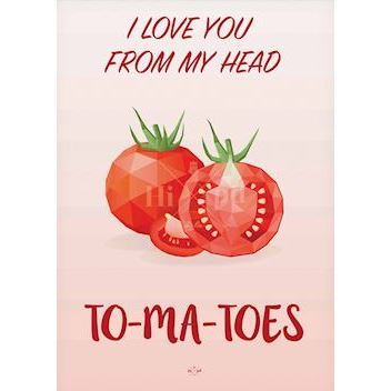 Hipd plakat, To-Ma-Toes, 50x70 cm