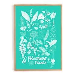 Lisa Grue plakat, Poisonous Plants (grøn)