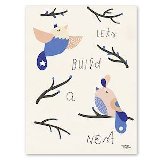 Michelle Carlslund, Let's build a nest, 30x40 cm
